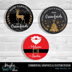 christmas-tags-stickers-merry-mujka-2 Custom Christmas lettering and word art. www.mujka.ca