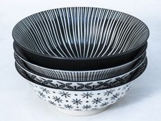 This Black Bowl Set Comes In 4 Different Designs For The Less Traditional. Brighten Up Your Dinner Table. Black Bowl, Dinner Table, Kitchen Tools, Bowl Set, Dinnerware, Porcelain, Medium, Tableware, Gifts