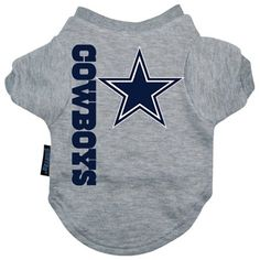 NFL Dallas Cowboys Ash Pet T-shirt (X-Large) -- Click image for more details. (This is an affiliate link and I receive a commission for the sales)