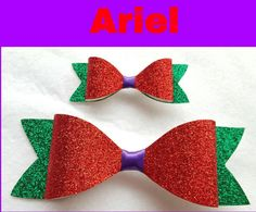 Check out this item in my Etsy shop https://www.etsy.com/listing/246161675/disney-inspired-ariel-hair-bow-glitter