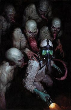 This image is take from a horror comic by David Lapham called The Strain, from Dark Horse Comics. This novel is a twist on the vampire story. Those who love comics about vampires and zombies will love this comic, as it brings the best of both of those worlds together. With the hoards of vampire like creatures taking over, the protagonists struggle to survive.