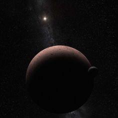 provocative-planet-pics-please.tumblr.com Makemake der zweithellste Zwergplanet des Kuipergürtels hat einen Mond. Makemakes Mond hat den Spitznamen MK2 er reflektiert Sonnenlicht mit einer kohlschwarzen Oberfläche und ist etwa 1300 Mal dunkler als der Körper den er umrundet. Dennoch wurde er bei Beobachtungen mit dem Weltraumteleskop Hubble entdeckt bei denen nach kaum sichtbaren Begleitern gesucht wurde mit der gleichen Technik mit der man Plutos kleine Begleiter fand. Wie bei Pluto und…