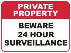 S 2861Private Property Sign