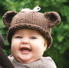 CreatiKnit: Teddy Bear Hat & Pattern now available!