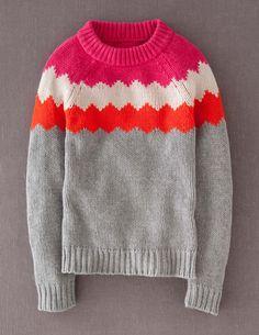 Chevron Yoke Sweater WK901 Sweaters at Boden