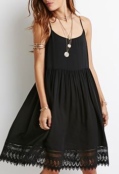 Crochet-Trimmed Babydoll Dress | Forever 21 | #thelatest