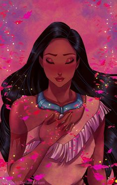 Pocahontas in Colors of the Wind