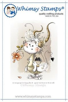 """Whimsy Stamps/Wee Stamps """"Freddie"""" Rubber Stamp"""