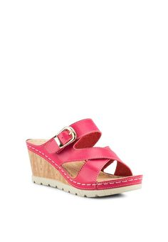 a263c2333b93e Strappy Wedges 2 Ladies Slippers