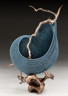 Deborah Smith weaves sculptural and traditional baskets… Rope Basket, Basket Weaving, Textiles, Contemporary Baskets, Pine Needle Baskets, Woven Baskets, Crochet Baskets, Traditional Baskets, Traditional Decor