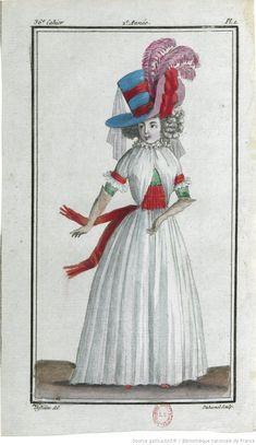 Magasin des modes nouvelles, françaises et anglaises, décrites d'une manière claire & précise, & représentées par des planches en taille-douce, enluminées -- 1786 -- periodiques