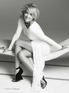 Sharon Stone – Shape USA – March 2014