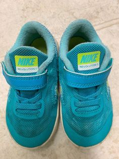 b3897596f997f Baby Shoes · Nike Size 6C Toddler Unisex Sneakers Shoes Turquoise Green  Revolution 3 Used  fashion  clothing