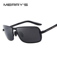 MERRY'S Classic Brand CR-39 Sunglasses Men HD Polarized Sun Glasses for Mens Fashion Luxury Design Shades UV400 S'8722