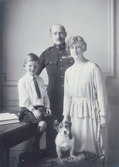 Alexandra and her husband Arthur Frederick with their son Alastair (daughter of Louise)
