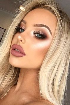 Verliebt in dieses Make-up! Liebst du dieses Make-up? Besuche die… In love with this makeup! Do you love this makeup? Check out the link for more ! - Schönheit von Make-up Eye Makeup Tips, Makeup Hacks, Smokey Eye Makeup, Hair Makeup, Makeup Ideas, Makeup Inspo, Makeup Tutorials, Glam Makeup, Makeup Trends