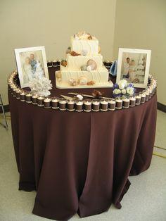 beachy wedding cake table