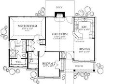 small house plan: 1092 sq ft Floor Plan