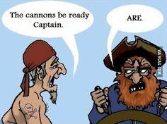 Pirate grammar Nazi.