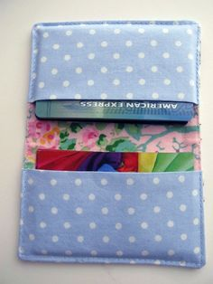 Image of Fabric Gift Card Holder Tutorial PDF - also credit cards, business cards