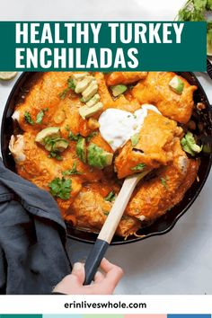 This Taco Tuesday, switch things up and go for some Healthy Turkey Enchiladas instead. Made with ground turkey and broccoli, these healthier enchiladas are guaranteed to hit the spot!