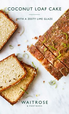 For a burst of tropical flavours, this lime and coconut loaf cake is topped with a citrus sugar drizzle. Tap for the full Waitrose & Partners recipe. Baking Recipes, Cake Recipes, Dessert Recipes, Tea Cakes, Cupcake Cakes, Cupcakes, Coconut Loaf Cake, Waitrose Food, Lime Cake