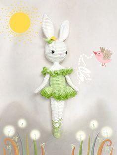 Ballerina Bunny Charlotte IV - Easter Bunny - Chrochet doll - Amigurumi Toy