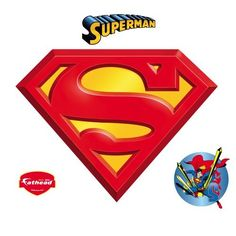 Put your passion on display with a giant Superman: Logo - Giant Officially Licensed DC Removable Wall Decal Fathead wall decal!