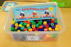 Awesome patterning ideas from Mrs. Learning Stations, Math Stations, Math Centers, Learning Centers, Preschool Centers, Fall Preschool, Work Stations, Kindergarten Math Activities, Toddler Learning Activities
