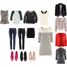 An H & M capsule wardrobe with teenage girl in mind. 12 Pieces = 40 different outfits.