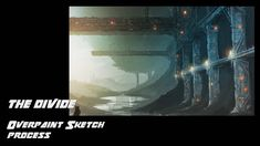 Just another sci-fi fantasy style landscape that I put together to unwind. Love sketching over pictures of structural pieces, abandoned rigs and warehouses. Sketchbook Designer, Sketches Of Love, Sci Fi Fantasy, Paint Designs, Abandoned, Divider, Landscape, Artist, Movie Posters