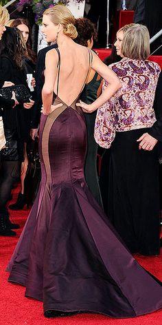 Wearing Donna Karan Atelier at the Golden Globe Awards