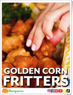 Tasty Food Videos presents you the best cooking recipes. The tips of the culinary arts well explained, healthy, easy and delicious. Corn Fritter Recipes, Corn Recipes, Veggie Recipes, Indian Food Recipes, Appetizer Recipes, Vegetarian Recipes, Cooking Recipes, Recipe For Corn Fritters, Appetizers