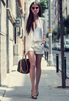shorts and style #white #look