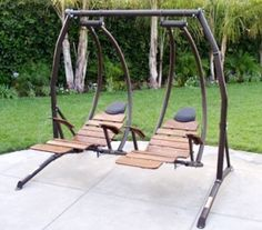 Ultimate Dual Recliner Swing Set