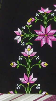 Elifififiiifififif Cross Stitch Embroidery, Cross Stitch Patterns, Prayer Rug, Diy And Crafts, Knitting, Rugs, Floral, Herb, Embroidered Towels