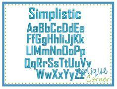 Simplistic font