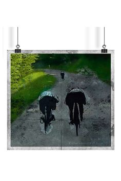 """Watercolor sketch artworks of incredible moments during descend in Stage 6 Critérium du Dauphiné 2017 from Parc des Oiseaux - Villars-les-Dombes to La Motte-Servolex. Second sketch """"So Far Away"""" depicted distance created by such risky ride."""