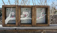 Sakura Papercut Shadowbox. $100.00, via Etsy.