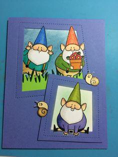 MFT You Gnome Me; gnome trio; wonky frame die