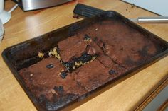Oh dear - last night's experiment did NOT go well! Butcher Block Cutting Board, Experiment, Brownies, Desserts, Food, Cake Brownies, Tailgate Desserts, Deserts, Meals