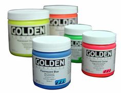 Golden Fluorescent Acrylic Colors | Cavalier Art Supplies