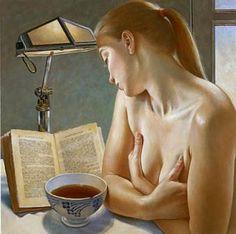 """FRANCINE VAN HOVE (1942- ).(On my new board """"Book & Reading II.""""  Irit Volgel)"""