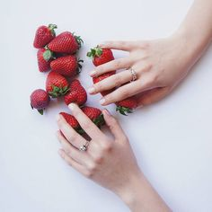 Beautiful Things, Jewelry Collection, Strawberry, Jewels, Fruit, Rings, Jewerly, Ring, Strawberry Fruit