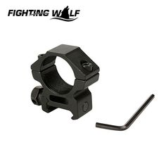 Tactical Military Aluminum Alloy 25mm Low QD Scope Flashlight Gun Rifle Ring Mount 20mm RIS Rail for Outdoor Hunting Shooting