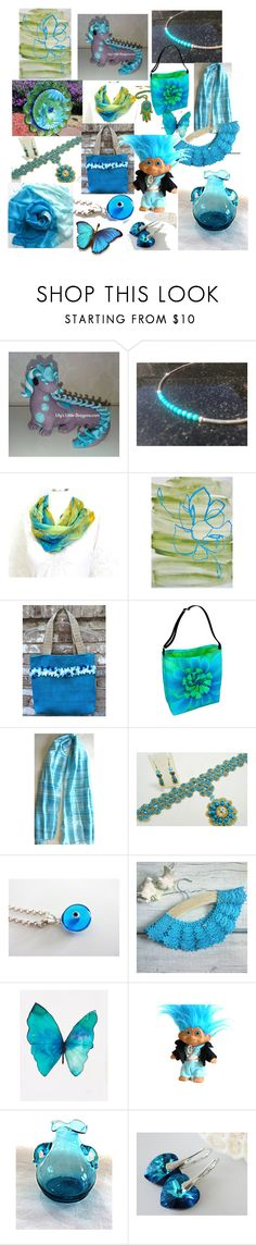 Gifts in Blue Turquoise by anna-recycle on Polyvore featuring MATÌ, Blume, modern, rustic and vintage