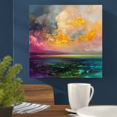 'Isle of Jure' by Scott Naismith Framed Acrylic Painting Print on Canvas East Urban Home Scott Naismith, Painting Prints, Art Prints, Watercolour Painting, Wall Paintings, Faux Painting, Painting Canvas, Canvas Wall Art, Canvas Prints