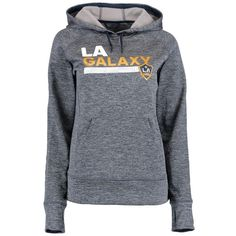 LA Galaxy adidas Women's Team Issue climawarm Pullover Hoodie - Navy
