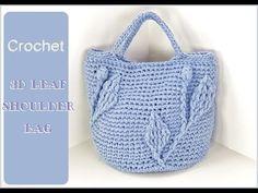 (코바늘 가방뜨기) 3d 나뭇잎 가방뜨기/crochet bag # LT특수사 # 뜰래아 - YouTube Irish Crochet, Diy Crochet, Crochet Stitches, Crochet Patterns, Crochet World, Tunic Pattern, Knitted Bags, Straw Bag, Purses And Bags