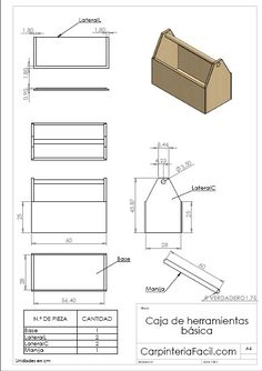 Wood Tool Box, Wooden Tool Boxes, Wooden Crates, Woodworking Hand Tools, Woodworking Plans, Woodworking Projects, Woodworking Shop, Wood Block Crafts, Wood Crafts